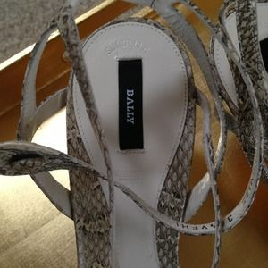 Bally Shoes - Bally Snakeskin Heels size 39 1/2 nwot