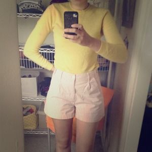 CUTEST SHORTS EVER! TOPSHOP high waist pink sz 8