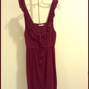 Dresses & Skirts - Ruffle Maroon Dress