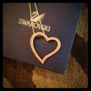 AVAILABLE!! Pink heart Swarovski necklace :)
