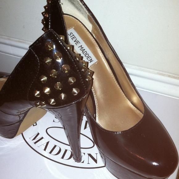 617a2436cfa Zandy black leather 8 1/2 Steve Madden pumps