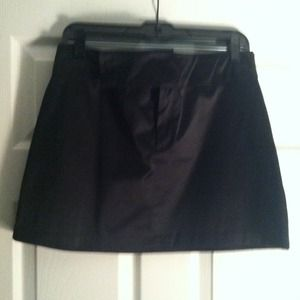 Like New..Satiny black mini skirt