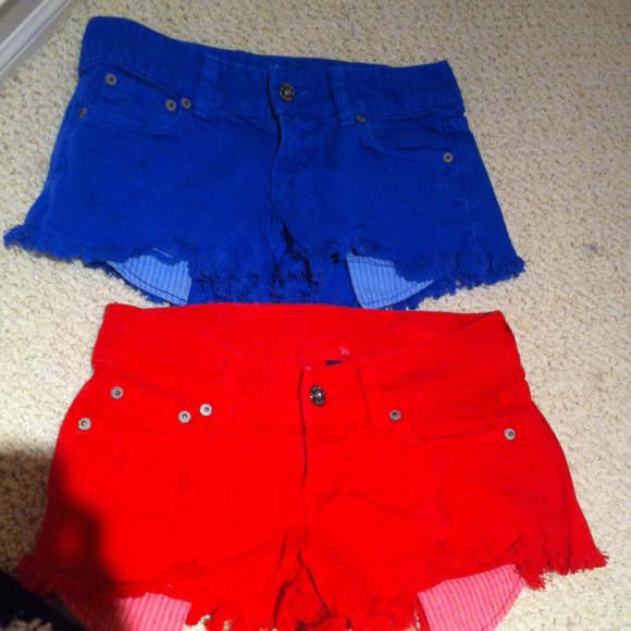 LF - Super Cute Red and Blue Jean Shorts from Alexis's closet on ...