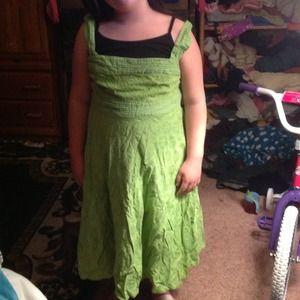 Polka dot green dress