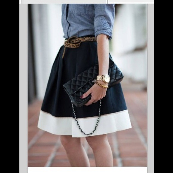 Cute short denim colored a-line skirt. XS from Vickie's closet on ...