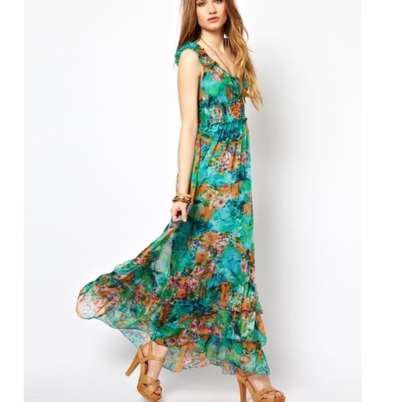33% off other Dresses &amp- Skirts - ❗Sale❗ Tropical Maxi Dress with ...