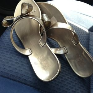 ❤❤❤Flash Sale-Coach Classic Thong Sandal  Gold