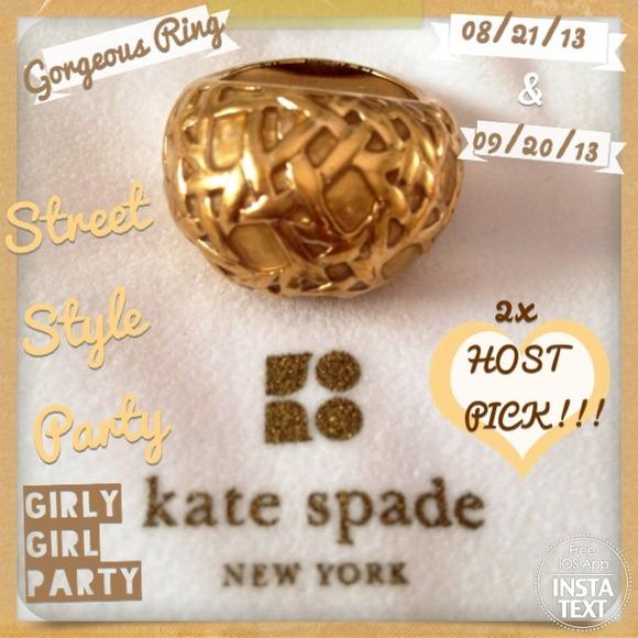 2x HOST PICK Kate Spade Ring