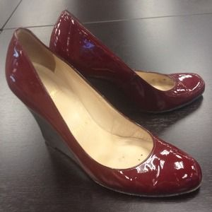 Christian Louboutin Shoes - Oxblood Patent Christian Louboutin Wedges