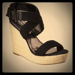 Strappy black Merona Wedges! Online Exclusive!