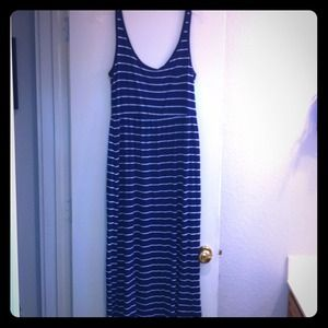 Maxi-Dress!!! Navy Blue with White Stripes!