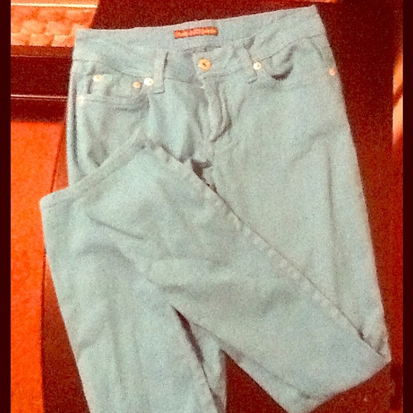 Angels Pants - Turquoise skinny jeans BRAND NEW