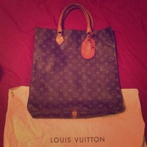 Vintage Louis Vuitton Sac Plat Monogram Tote Bag