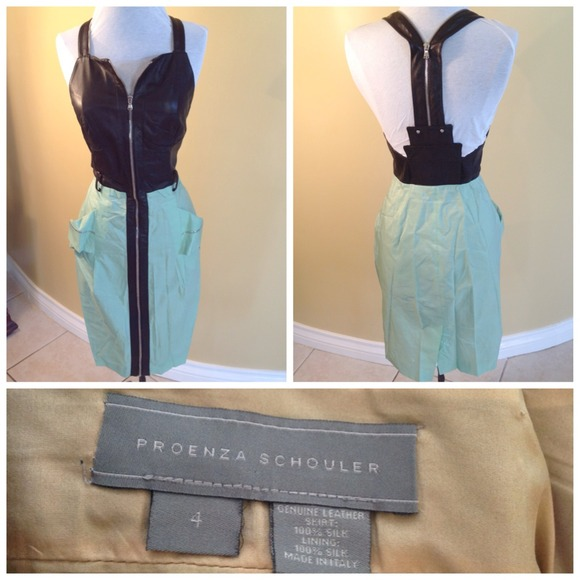Proenza Schouler Dresses & Skirts - Genuine Leather and silk dress