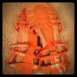 Size 8 orange sandals