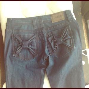 Denim - 🚫Sold 🚫Frankie b  bow pocket skinny jeans