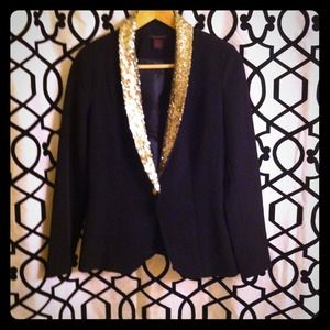 Sequin shawl collar blazer