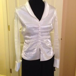 Delaru Tops - Gorgeous white blouse