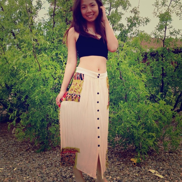 Skirt maxi tribal dress