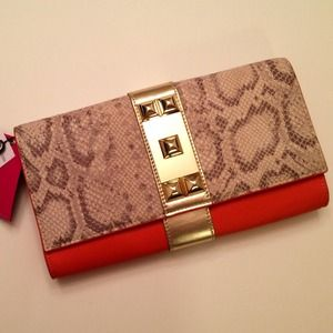 Vince Camuto Clutches & Wallets - Vince Camuto Snake Print Clutch