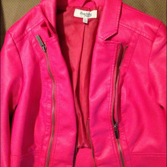 30% off Jackets & Blazers - Hot pink pleather jacket from Liz's ...