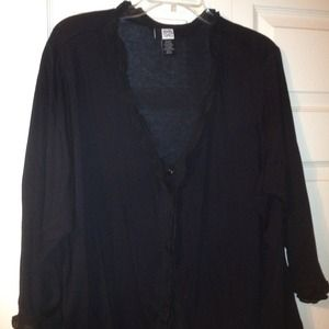 Black one button cover up
