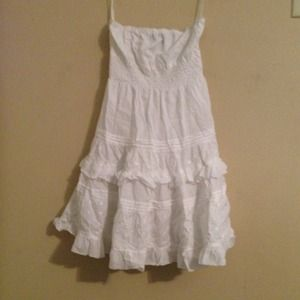 Rue 21 White cotton halter dress. Super cute!