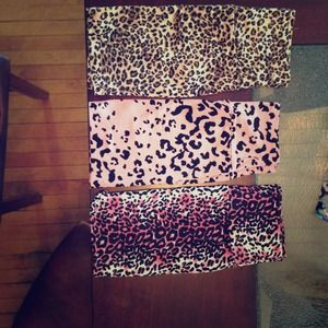 Lot Of 3 Mini High Waisted Leopard Skirts