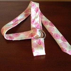 J Crew Fabric flower belt