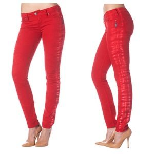 REDUCED: NWT Red Skinny Jeans