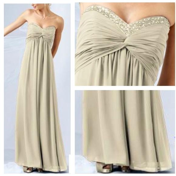 Chiffon Dresses Champagne David's Bridal