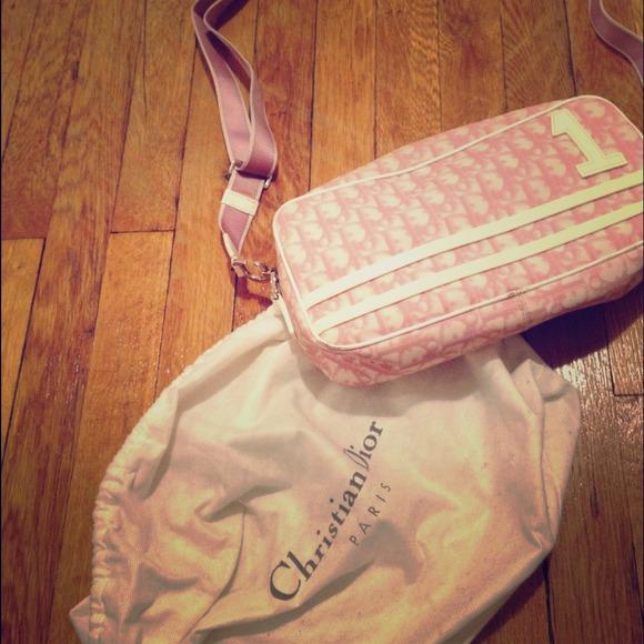 Dior Handbags - Vintage pink trotter Christian Dior bag fa2872ec7b80c