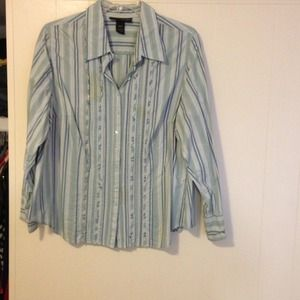 Long sleeve Lane Bryant dress shirt