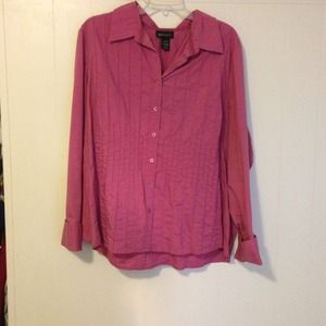 Long sleeved Lane Bryant dress shirt