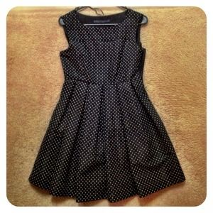 Zara  polka dot fit & flare dress