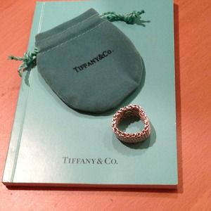 Authentic Tiffany &co silver somerset Mesh Ring