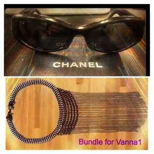 Authentic CHANEL Sunglasses & Necklace Bundle