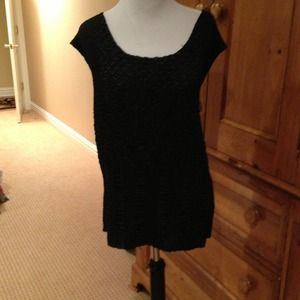 Dressy black sleeveless top with matching jacket