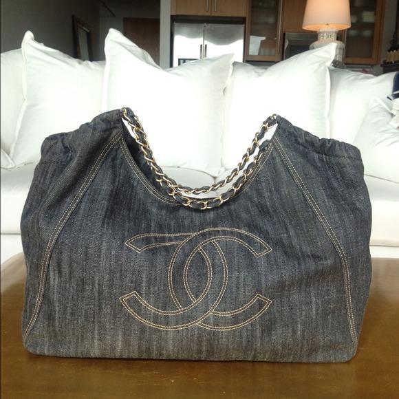 acd61f76fba6 CHANEL Bags | Denim Cc Logo Coco Cabas Xl Hobo | Poshmark
