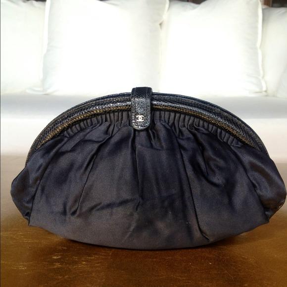 54bfd236ab17 CHANEL Bags | Vintage Matte Black Satin Evening Clutch | Poshmark