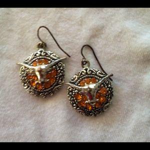 HookEm!! Texas Longhorns earrings.