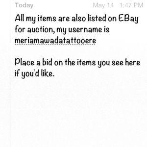 Other - eBay Auction meriamawadatattooere