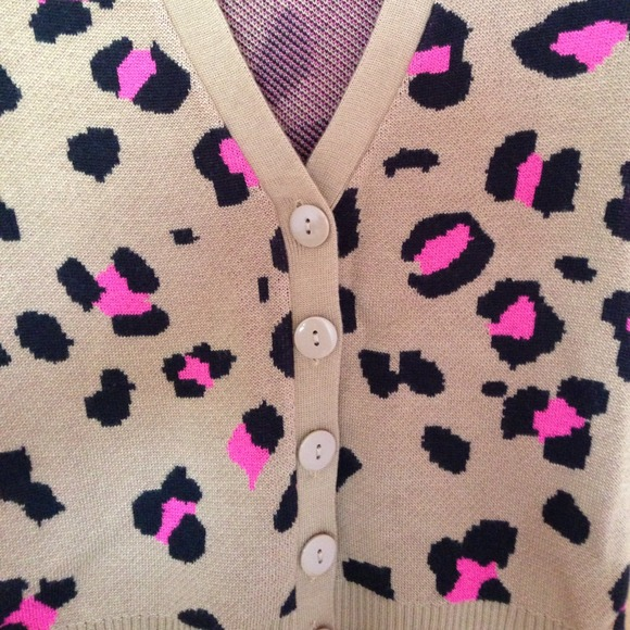 48% off Charlotte Russe Sweaters - Pink leopard cardigan. NWT ...