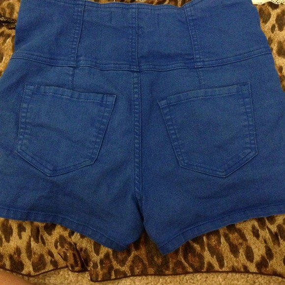 20% off Foreign exchange Pants - Royal blue high waisted shorts ...