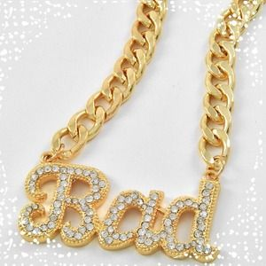 ❗LOW IN STOCK❗BAD GIRL GOLD TONE NECKLACE!!