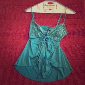 Marciano by Guess teal lace top