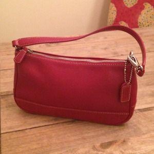 fcbcd792e21 ... closeout coach bags small red leather authentic coach purse 72246 5d2e9