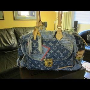 LV Bowly Denim Patch Blue (limited edition)