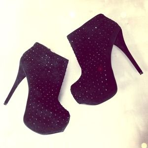 Wild Pair Shoes - Showstopping Black Studded Booties