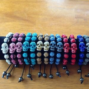 Jewelry - 1 Shamballa skull bracelet you choose the color!!